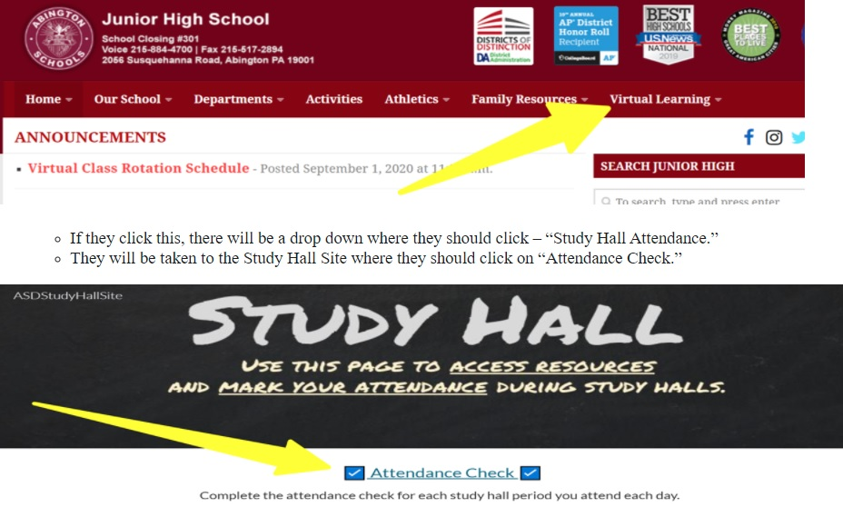 Study Hall Attendance