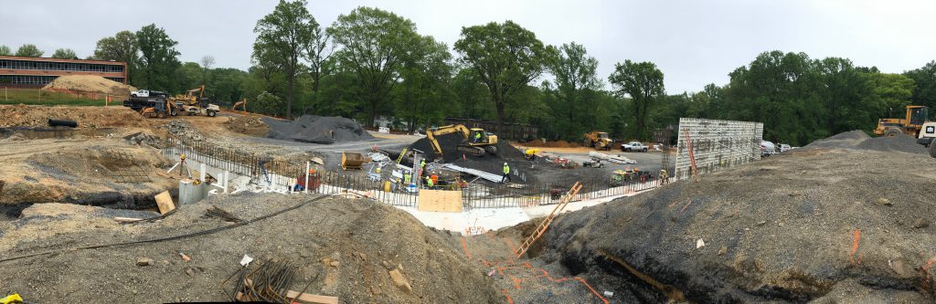The Abington Senior High School construction site as of May 2019.