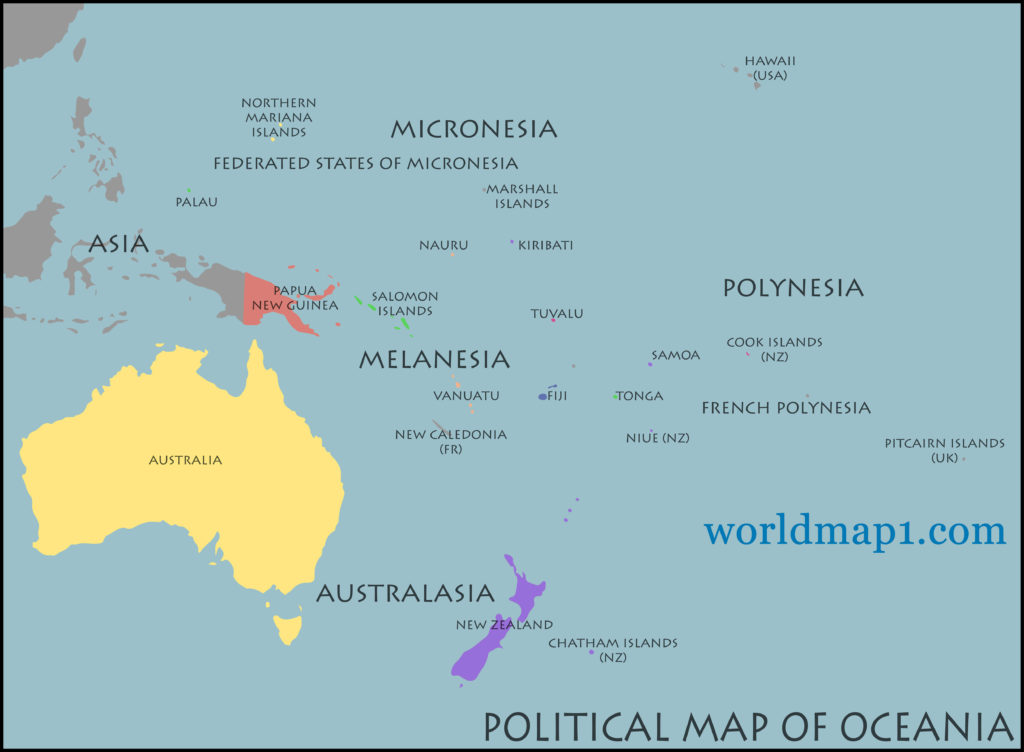 oceania_countries_political_map