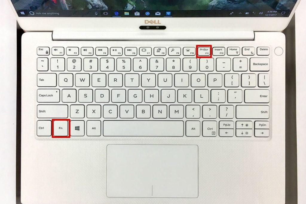 Laptop Windows Screenshot (Fn + PrtScr)