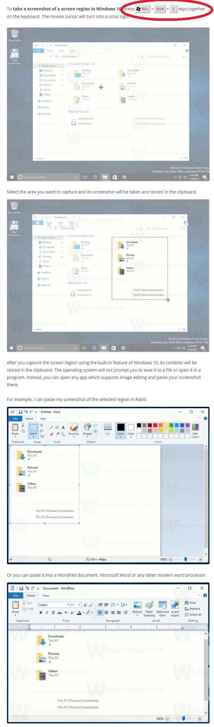 Partial Screenshot Windows 10 #2