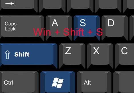 win-shift-s windows screenshot tool