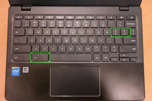 Chromebook Alt +[]