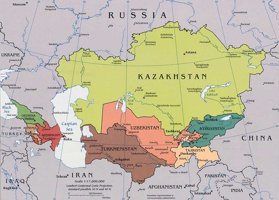 Central Asia Map 2