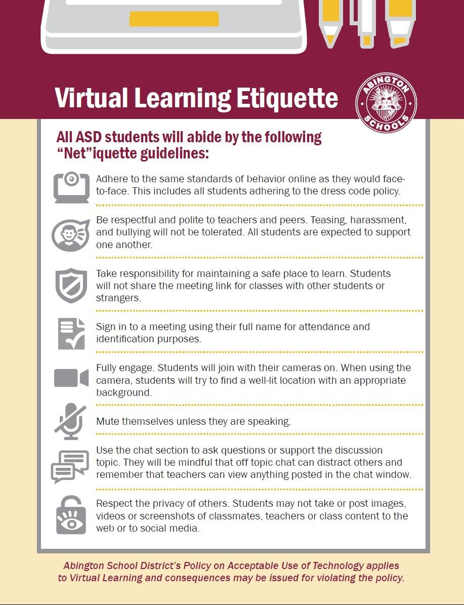 ASD Virtual Learning Etiquette