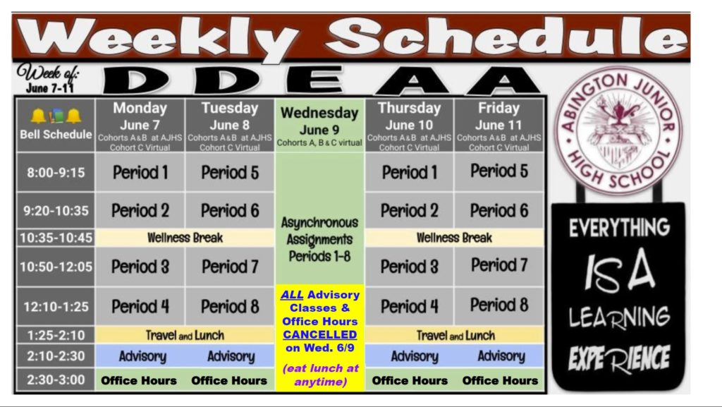 Schedule 2021-06-07