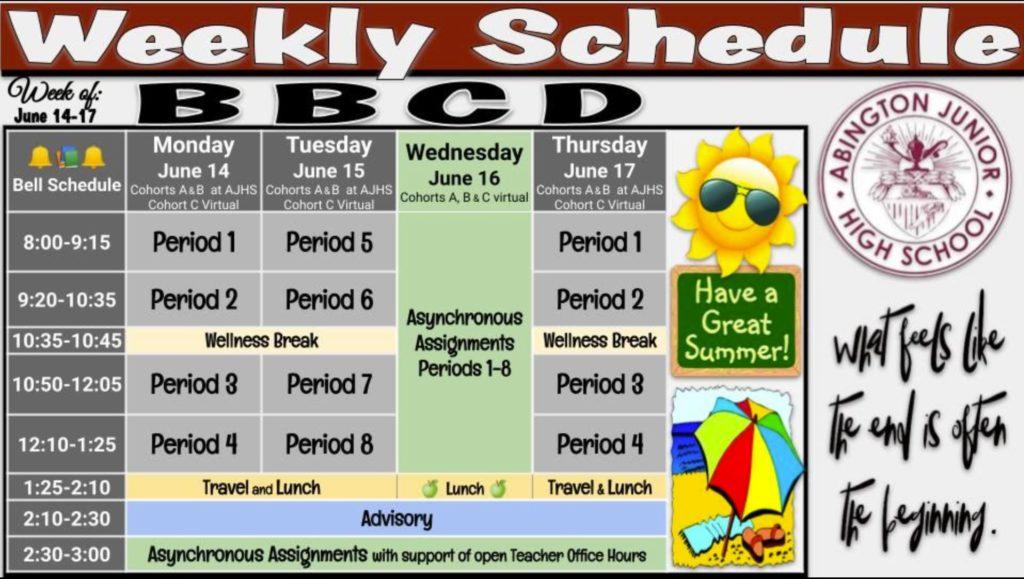 Schedule 2021-06-14