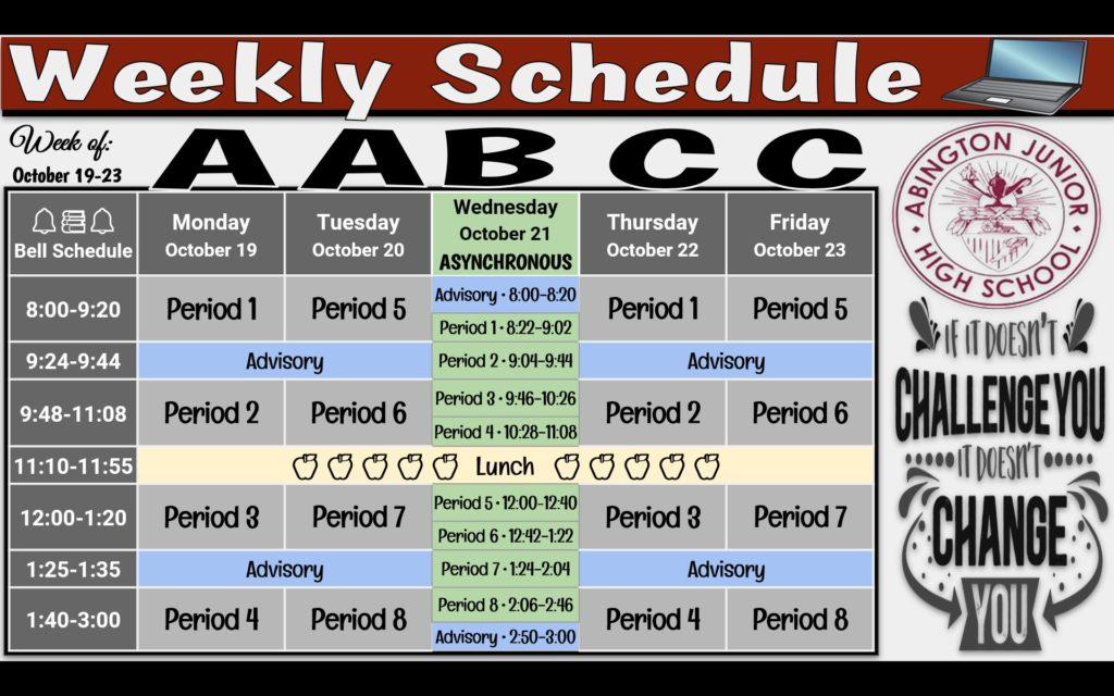 Week of 10-19
