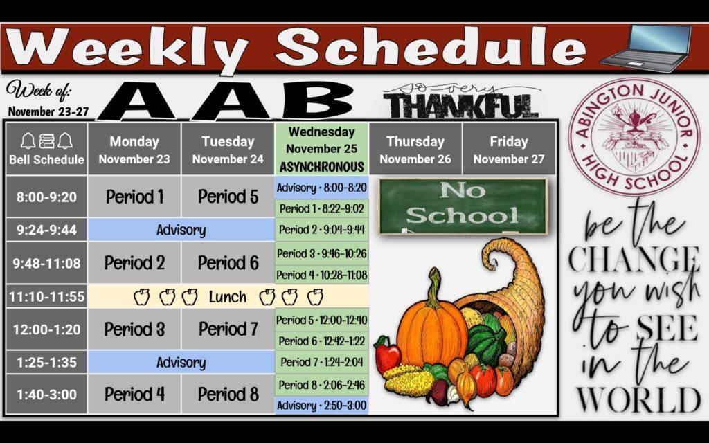 Week of 11-23