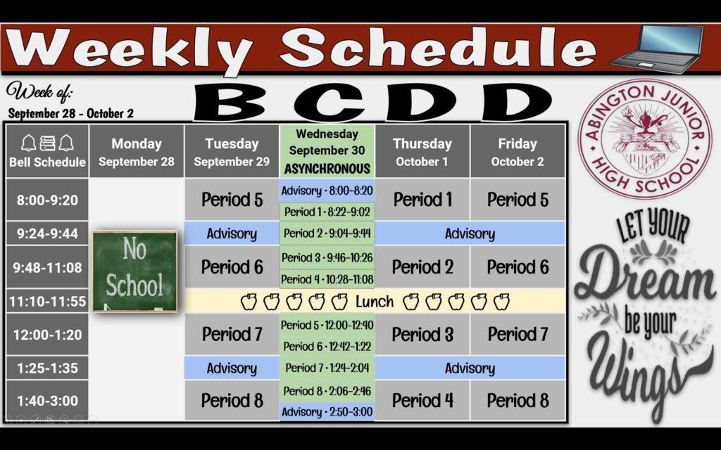 Week of 9-28
