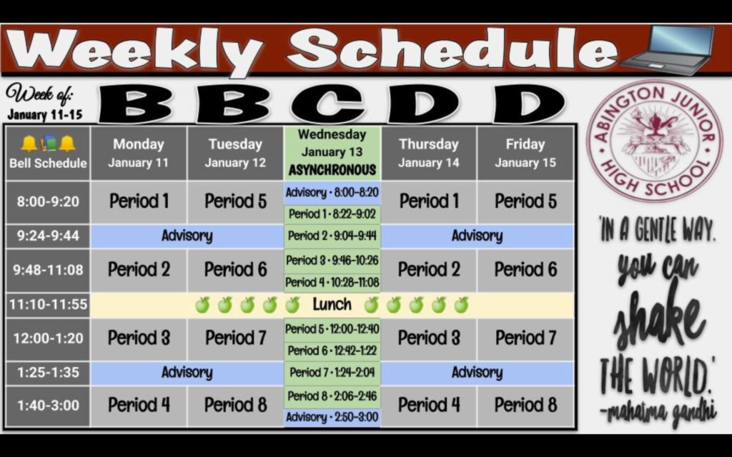 Week of 01-11 to 01-18