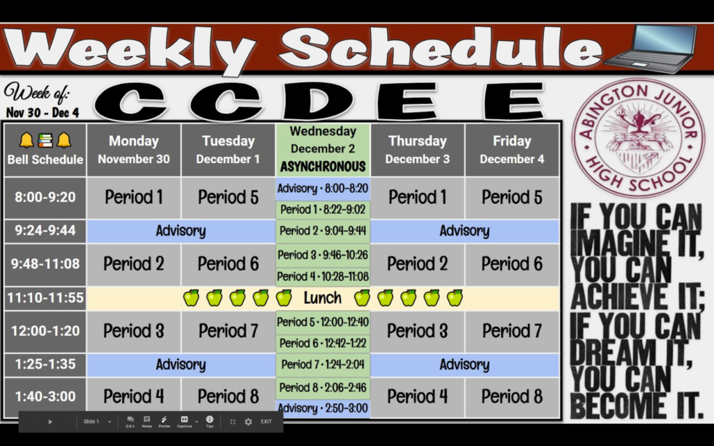 Week of 11-30 to 12-04