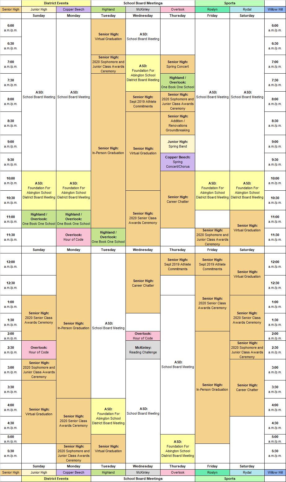 AMP-TV Schedule