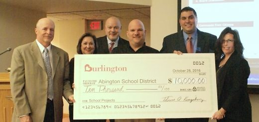 $10,000 Donated to Abington School District by Burlington Stores in Celebration of Jenkintown Store Grand Re-Opening