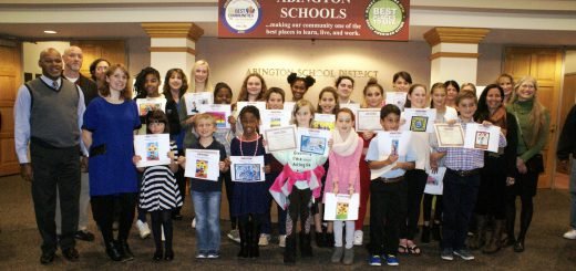 School Board Honors Art Students for Artwork Selected for Administration Building Exhibition