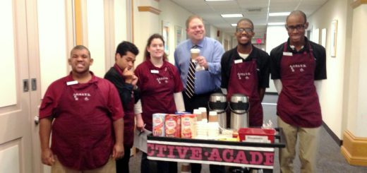 A Special Treat:  A.C.T.I.V.E. Academy Students Served Delicious Hot Beverages at the School District Administration Building