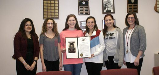 Pennsylvania State Senator Art Haywood Presented a State Senate Proclamation of Congratulations to Honor Four Abington Junior High Student Winners Of State-Wide Anti-Drug Peer-2-Peer Video PSA Contest