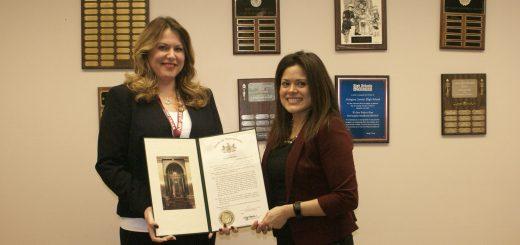 PA State Senator Art Haywood Honors Abington's Julianne Petersen With State Senate Proclamation of Congratulations for Her Social Studies Leadership Award