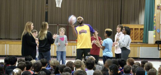 "World Famous Harlem Wizards ""Rocket"" and ""Tojo"" Presented  Pre-Game Warm-up Assemblies at Abington Schools in Preparation for Game against Abington Teachers & Principals on April 8, 2017"
