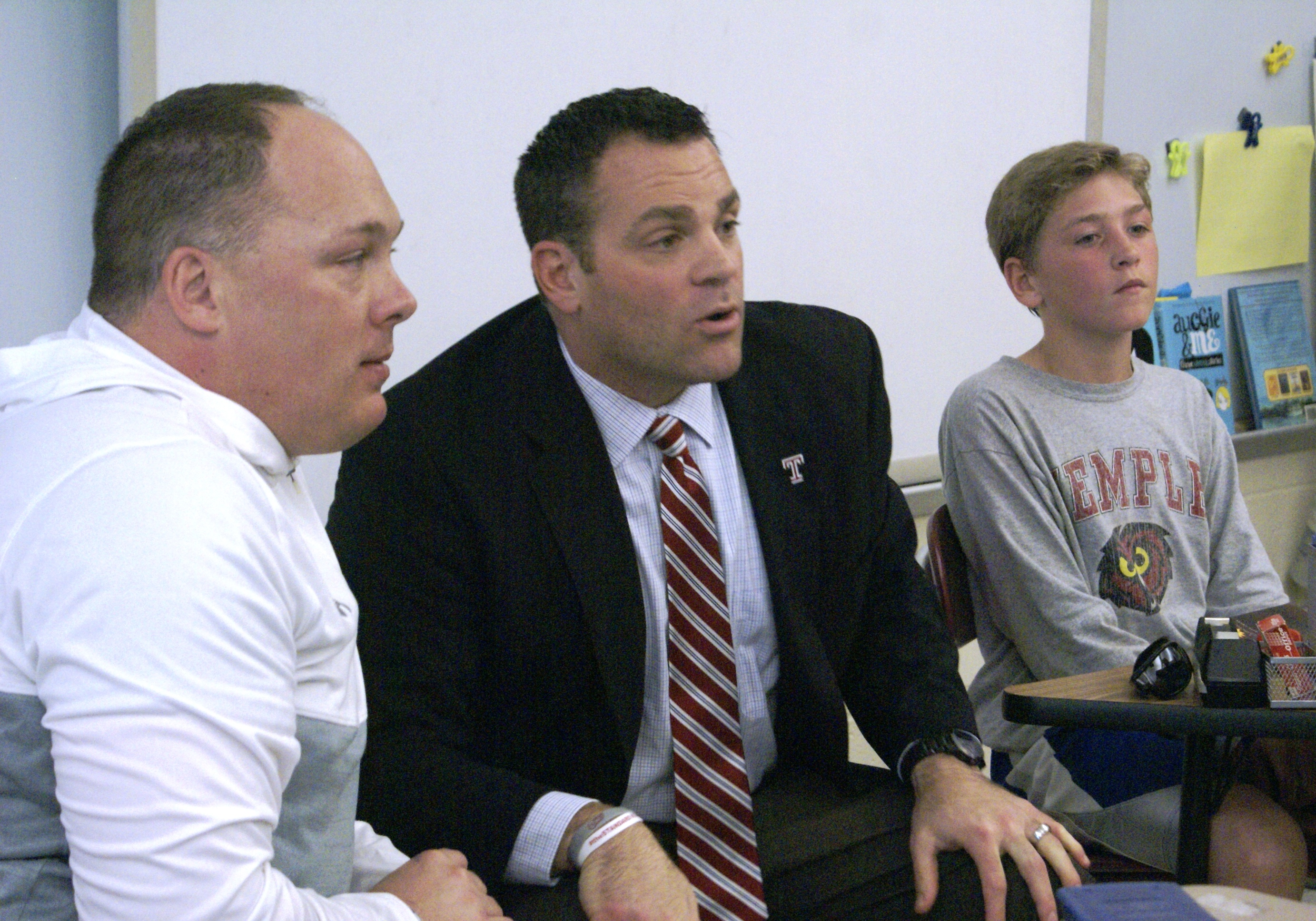 450c9c8fb Temple Football Coach and Athletic Director Visit Copper Beech As A ...