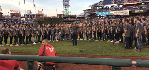 Abington Junior High School Chorus Performs National Anthem at Phillies Game