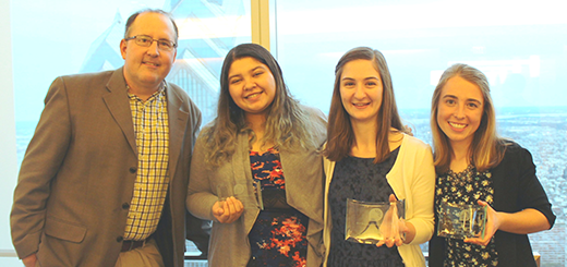 Three Abington Senior High School Young Women Win National Women's Center Awards for Aspirations in Computing