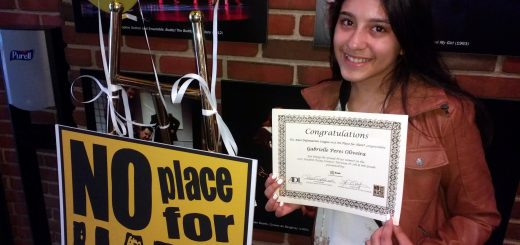 "Abington Junior High School Student Wins First Place in ""No Place for Hate"" Essay Contest"