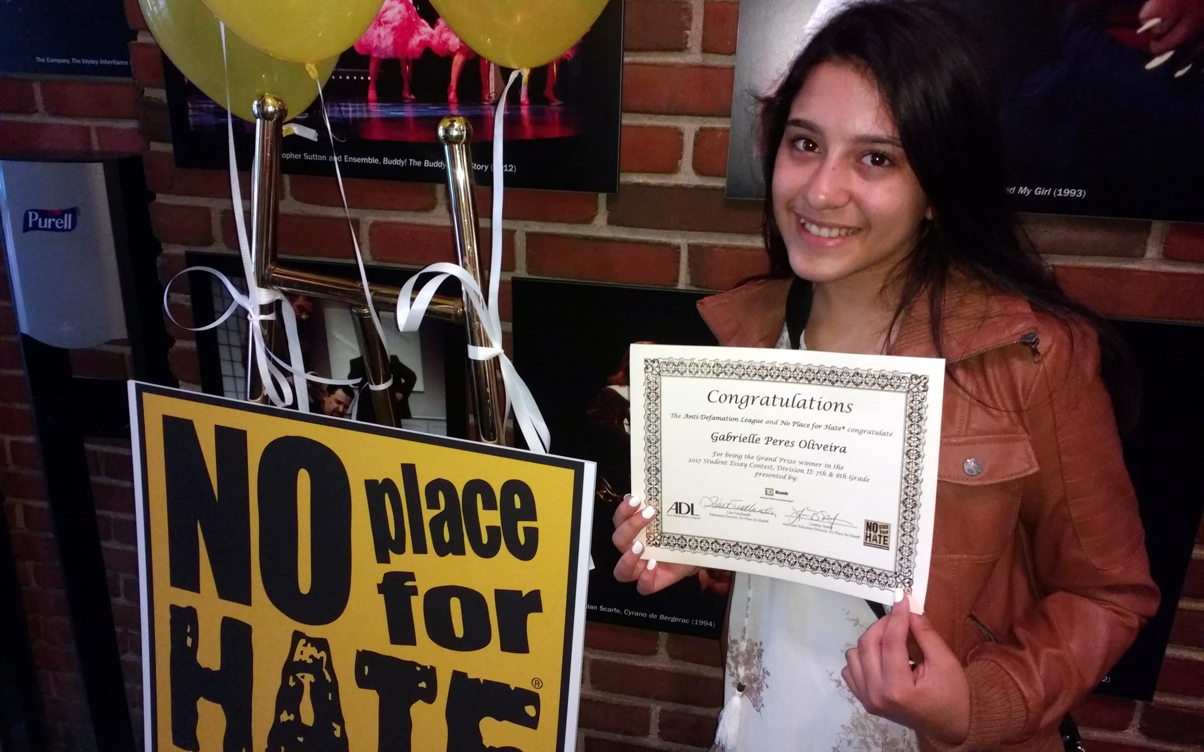 Abington Junior High School Student Wins First Place In No Place