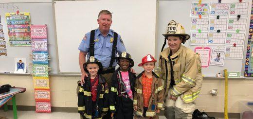 Weldon Volunteer Fire Fighters Visit Kindergarteners At Copper Beech Elementary School