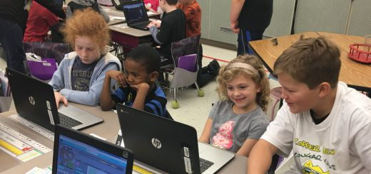 "Copper Beech Elementary School Fifth Grade Students Celebrate ""Hour of Code"" with First Grade Students"