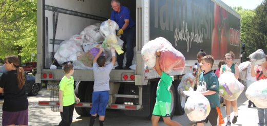 Recycling Collection at McKinley Elementary Warrants Pickup from a 54′ Truck