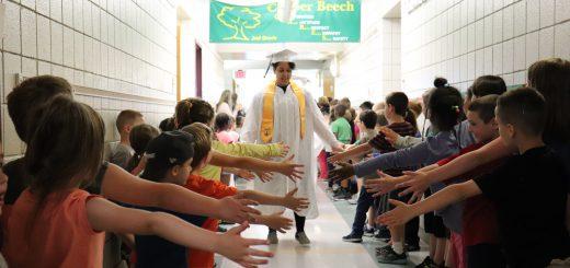 Abington Senior High School Class of 2018 Retraces Their Steps During the Annual Grad Walk