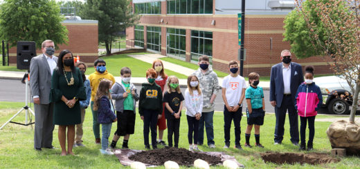 Students Plant Copper Beech Tree at School that Bears its Name