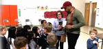 A Black History Month Event At Rydal:  Illustrator – Author E. B. Lewis Visits and Discusses Art and Writing With Students