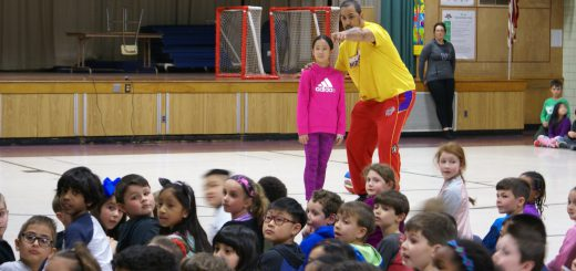 Trick Hoops and Alley Oops: Harlem Wizards Perform for Elementary Schools