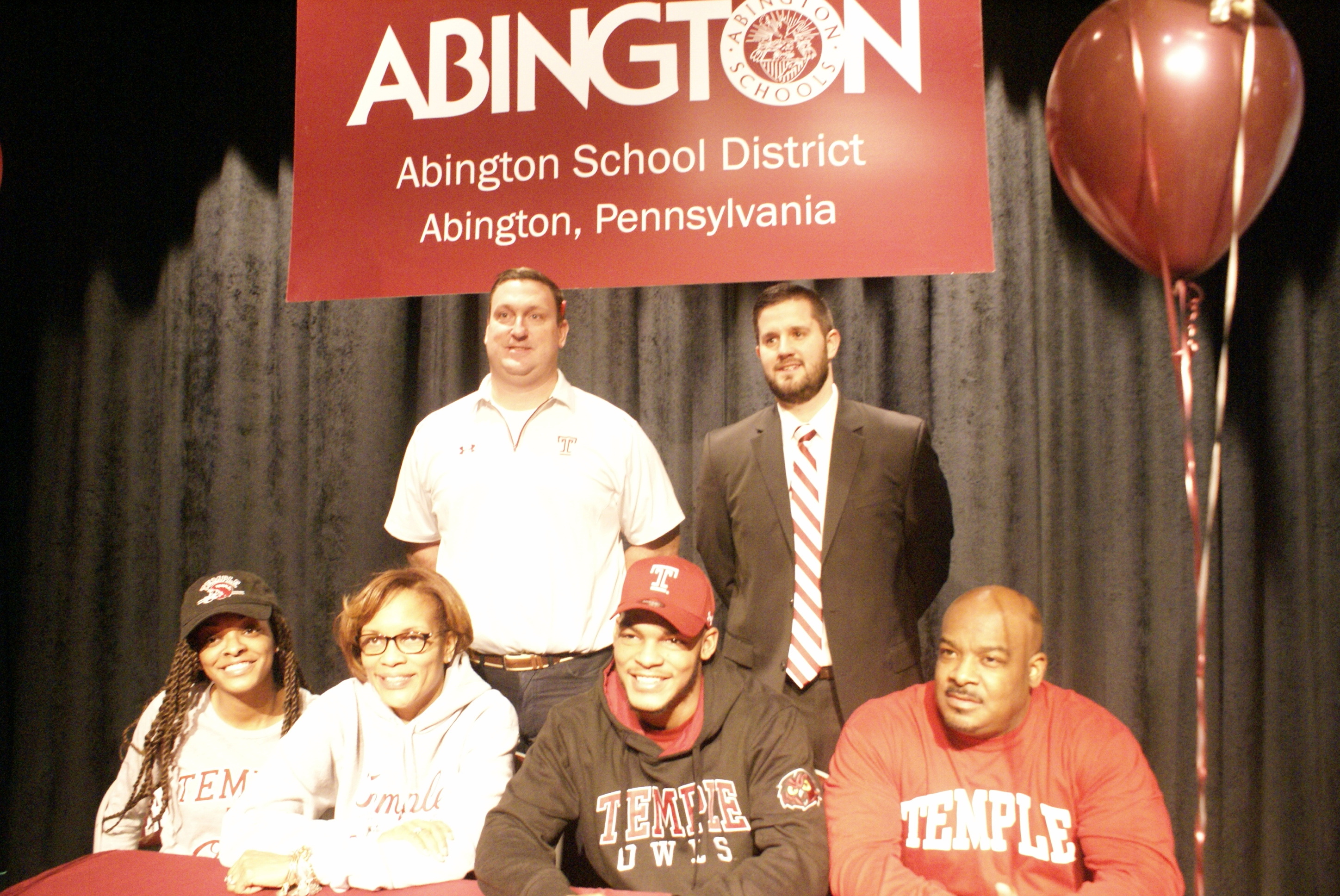 d6ae7b666 Abington Senior High School Celebrates George Reid s College Signing to Temple  University Division I Football