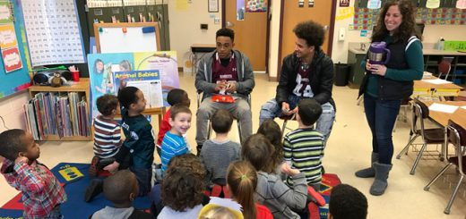 "At Overlook, Abington Varsity Football Players and Cheerleaders Encourage Reading with Unique ""Reading Super Bowl"""