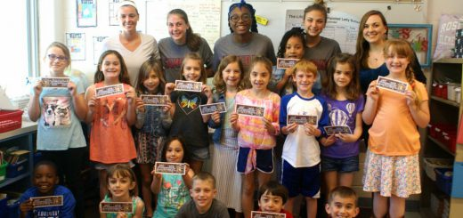 "Abington Senior High School Girls' Lacrosse Team Visits Roslyn Elementary School to Support ""Stick with READING!"" … a double play on the word ""stick"""