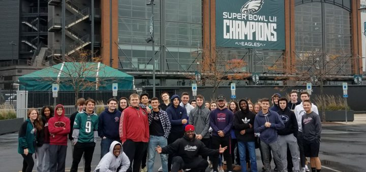 Sports Marketing students visit Lincoln Financial Field Fall 2018