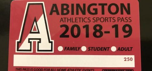 Abington Athletics Sports Passes for 2018-2019 Seasons