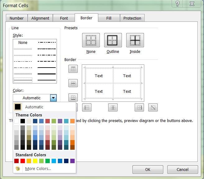 Excel gridlines 3b